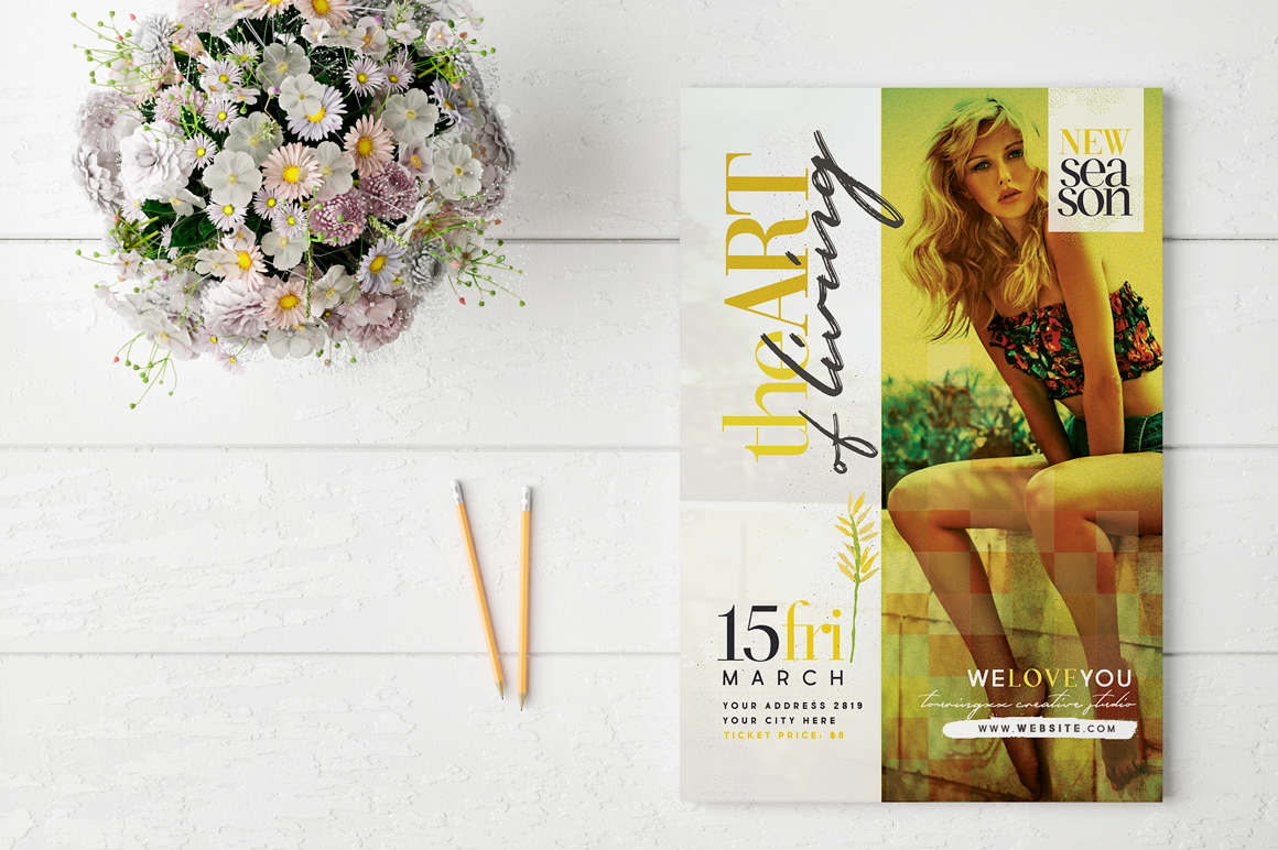 The Art Of Living Flyer Template example image 2