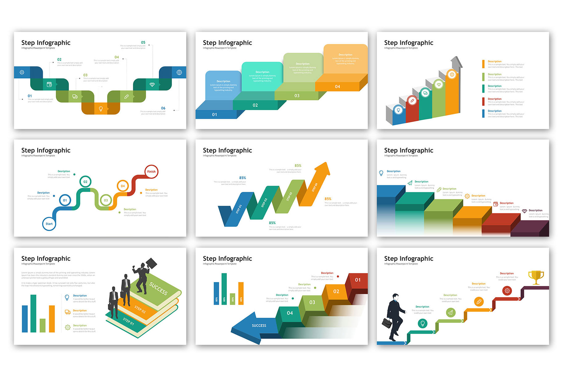 Step Presentation - Infographic Template example image 6