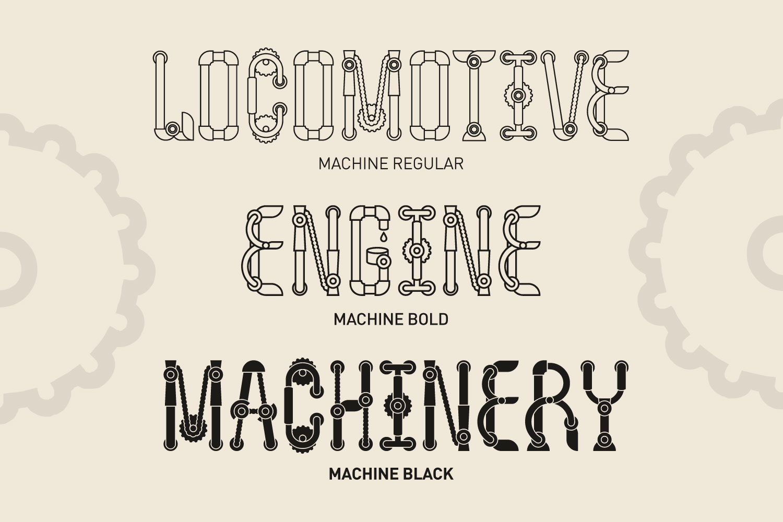 Machine font family example image 3