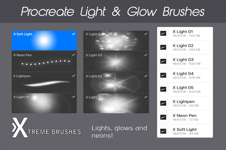 Procreate Light & Glow Brushes example image 2