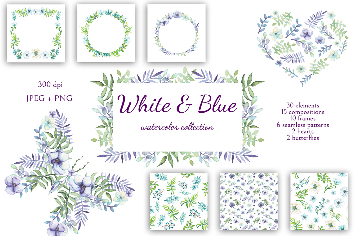 White and Blue example image 1