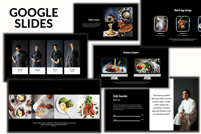 Core - Food Google Slides Dark example image 1