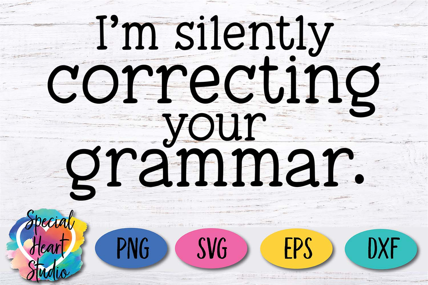 Silently correcting grammar - A sarcastic and funny SVG file example image 2