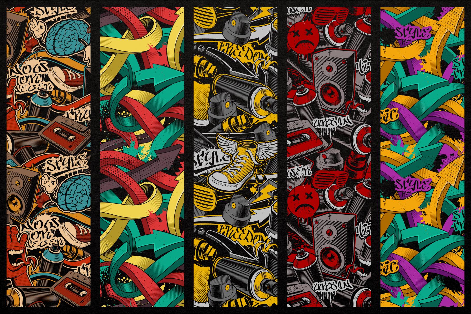Graffiti Seamless Patterns example image 2