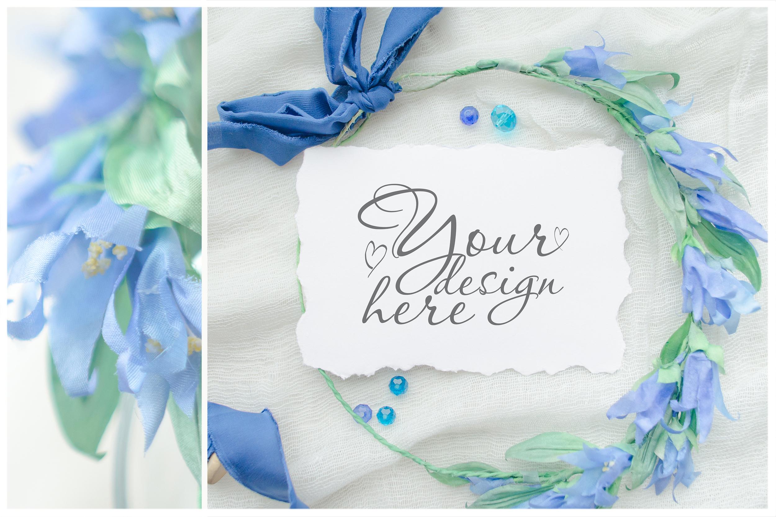 Something blue. Wedding mockups & stock photo bundle example image 17