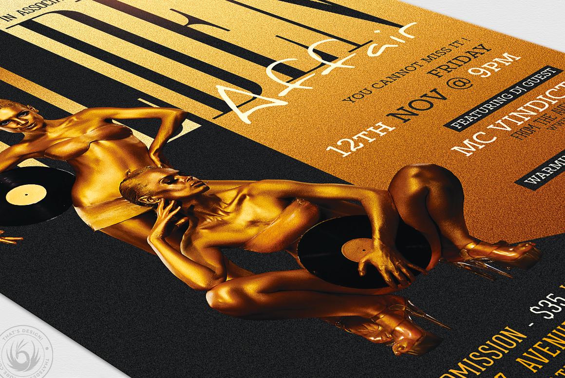 Golden Affair Flyer Template example image 6