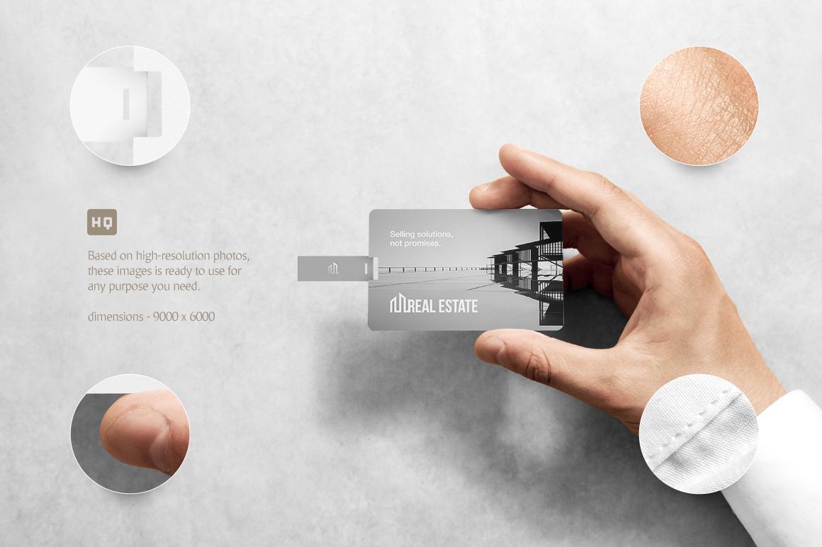 Wafer USB Wallet Card Mockup example image 3