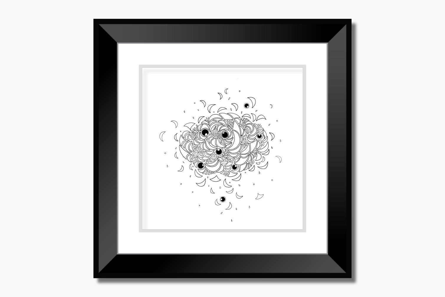 Abstract Illustration Black and White, A1, SVG example image 9