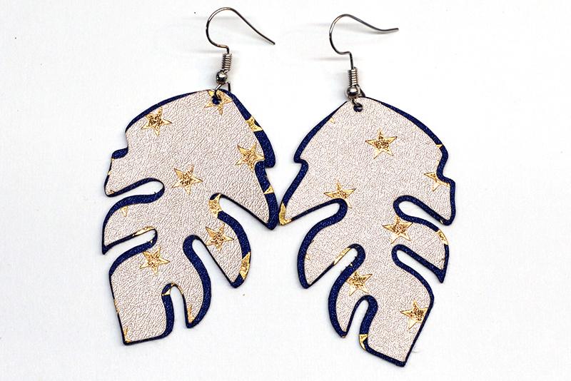 Leaves earrings template SVG, DIY earrings template example image 3