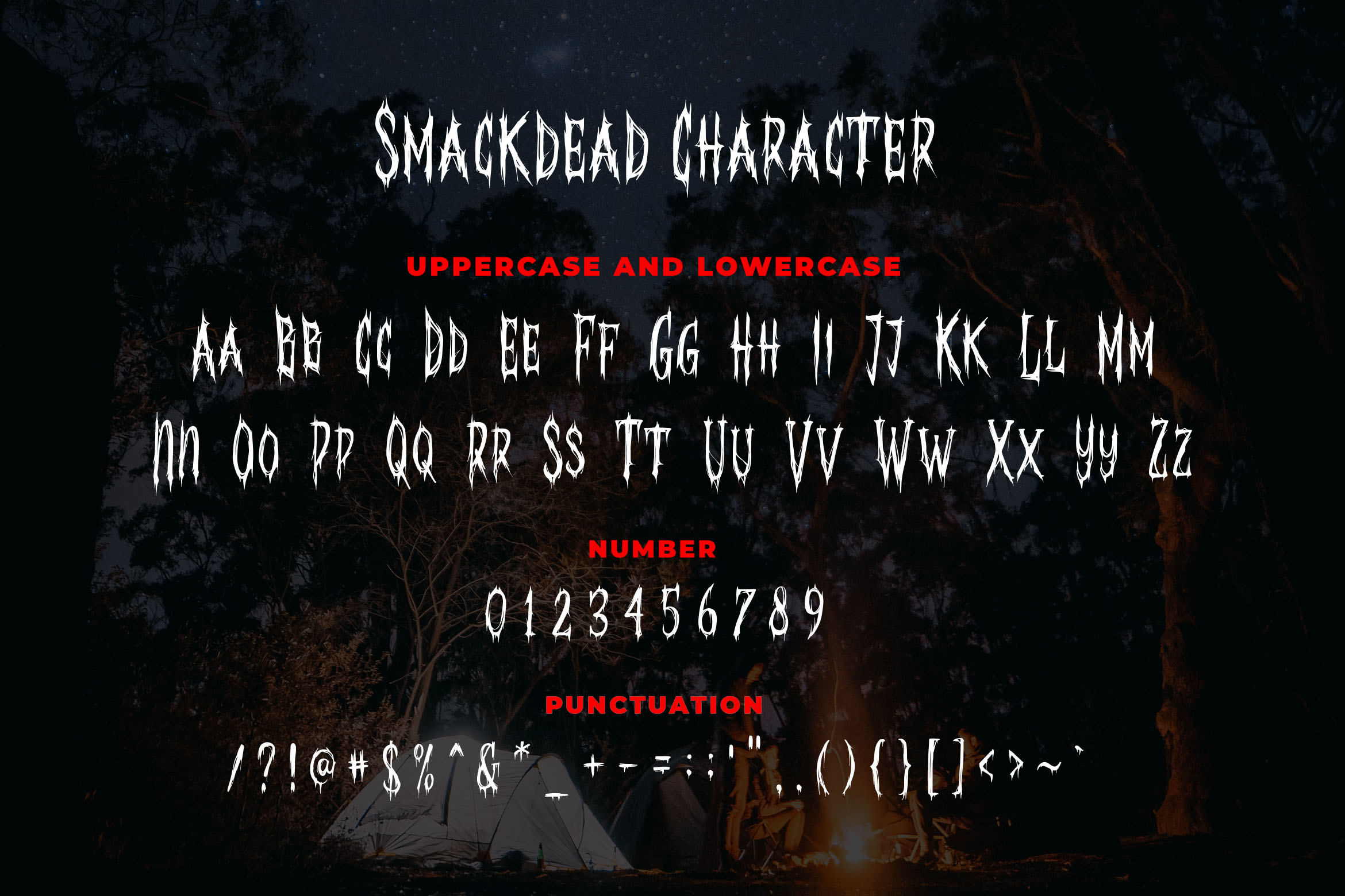 Smackdead - Black Metal Typeface example image 4