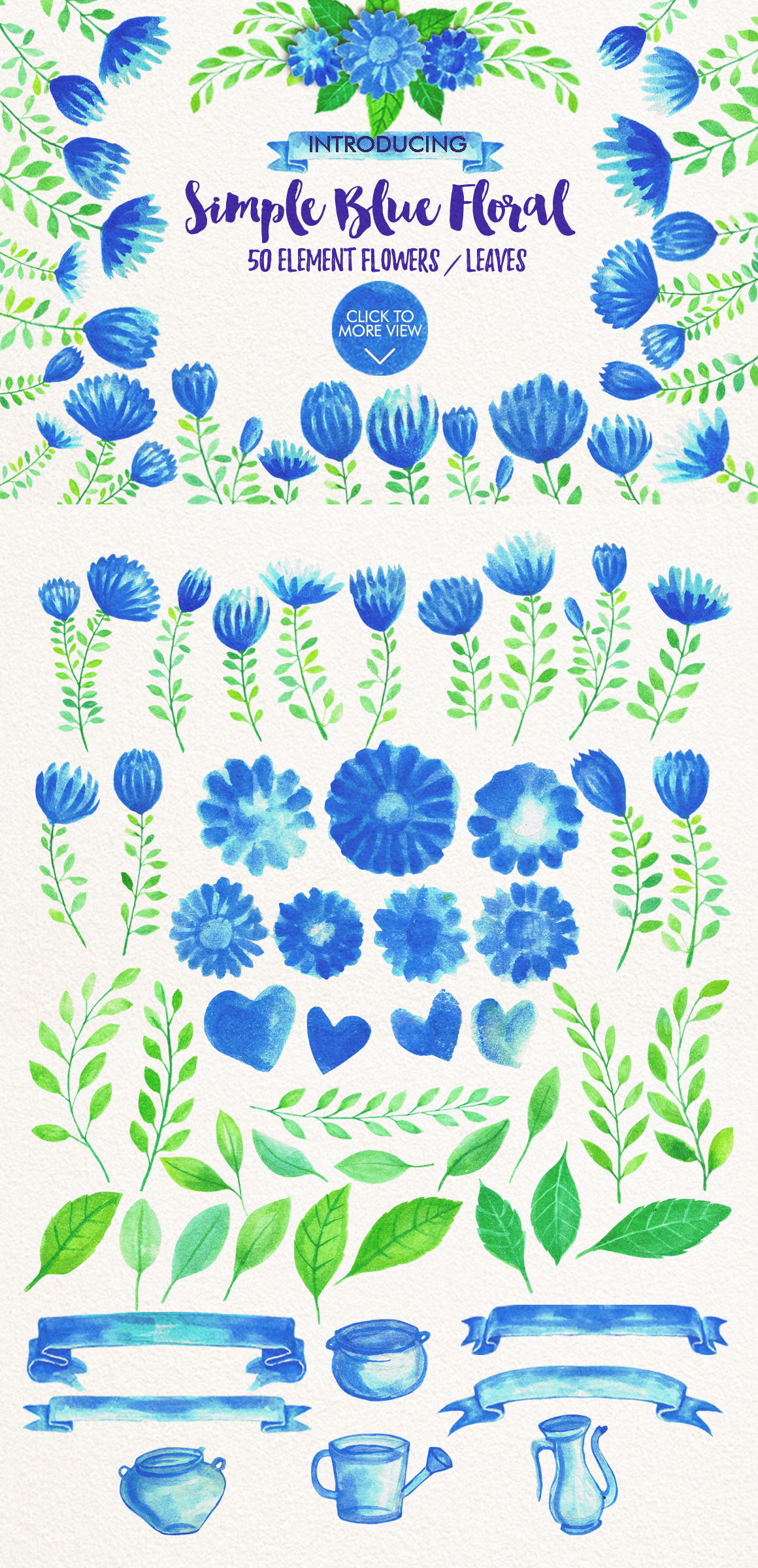 Simple Blue Floral example image 4