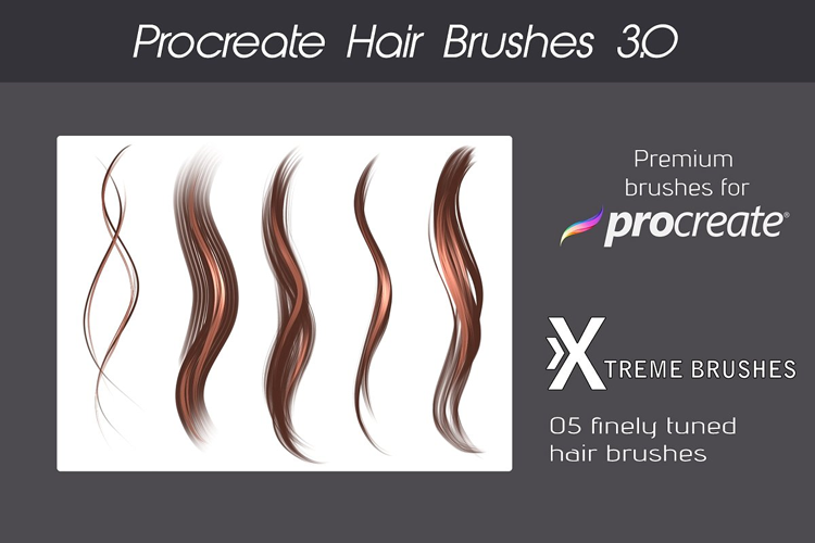 Procreate Hair Bundle example image 4