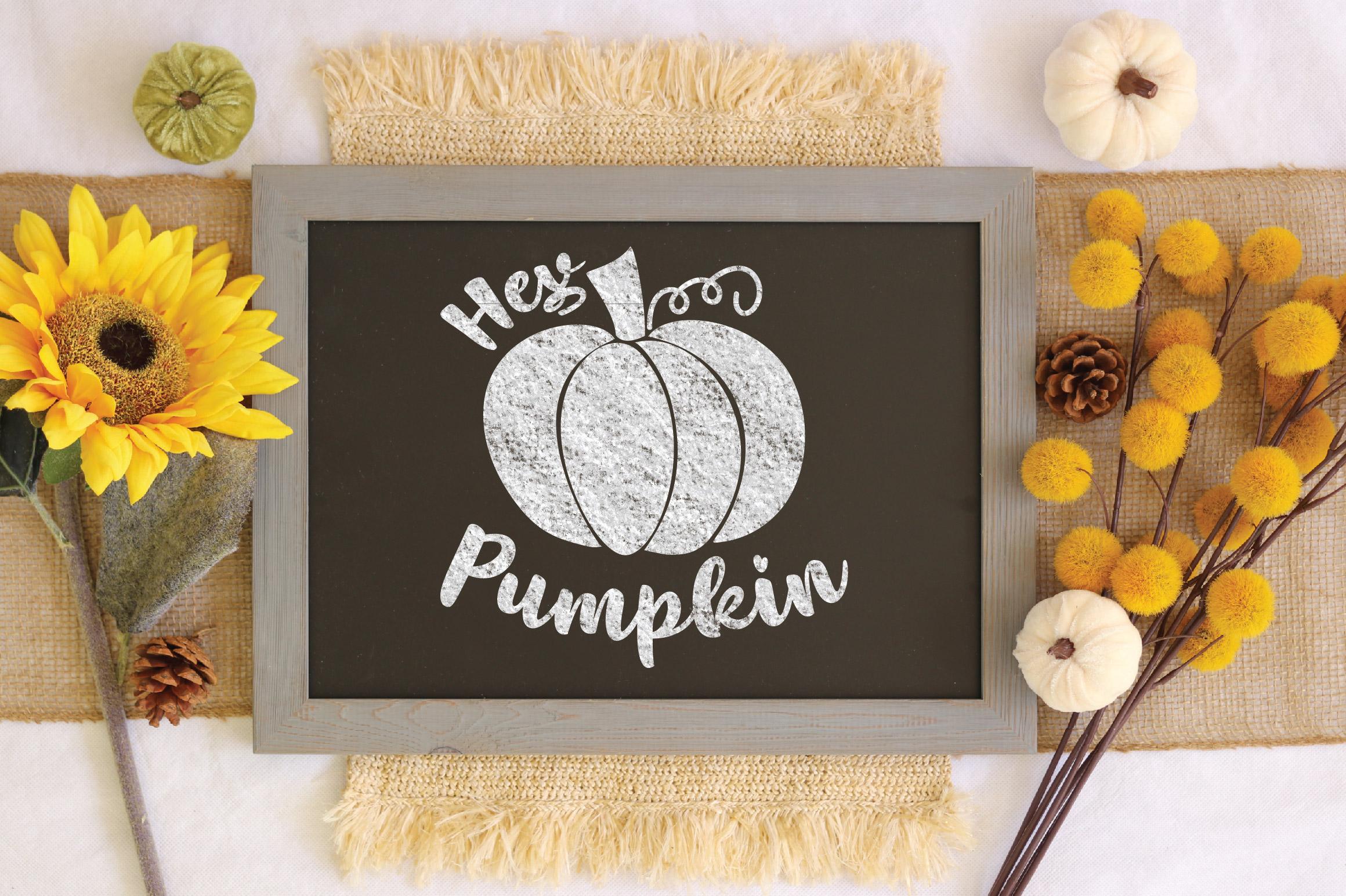 Hey Pumpkin SVG Cut File - Fall Pumpkin SVG example image 3