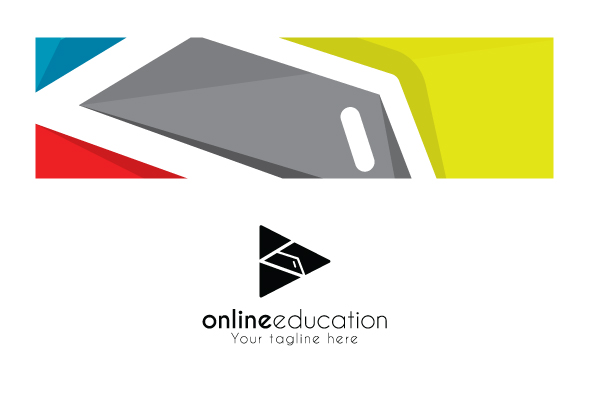 Online Education - Play Symbol Stock Logo Design Template example image 3