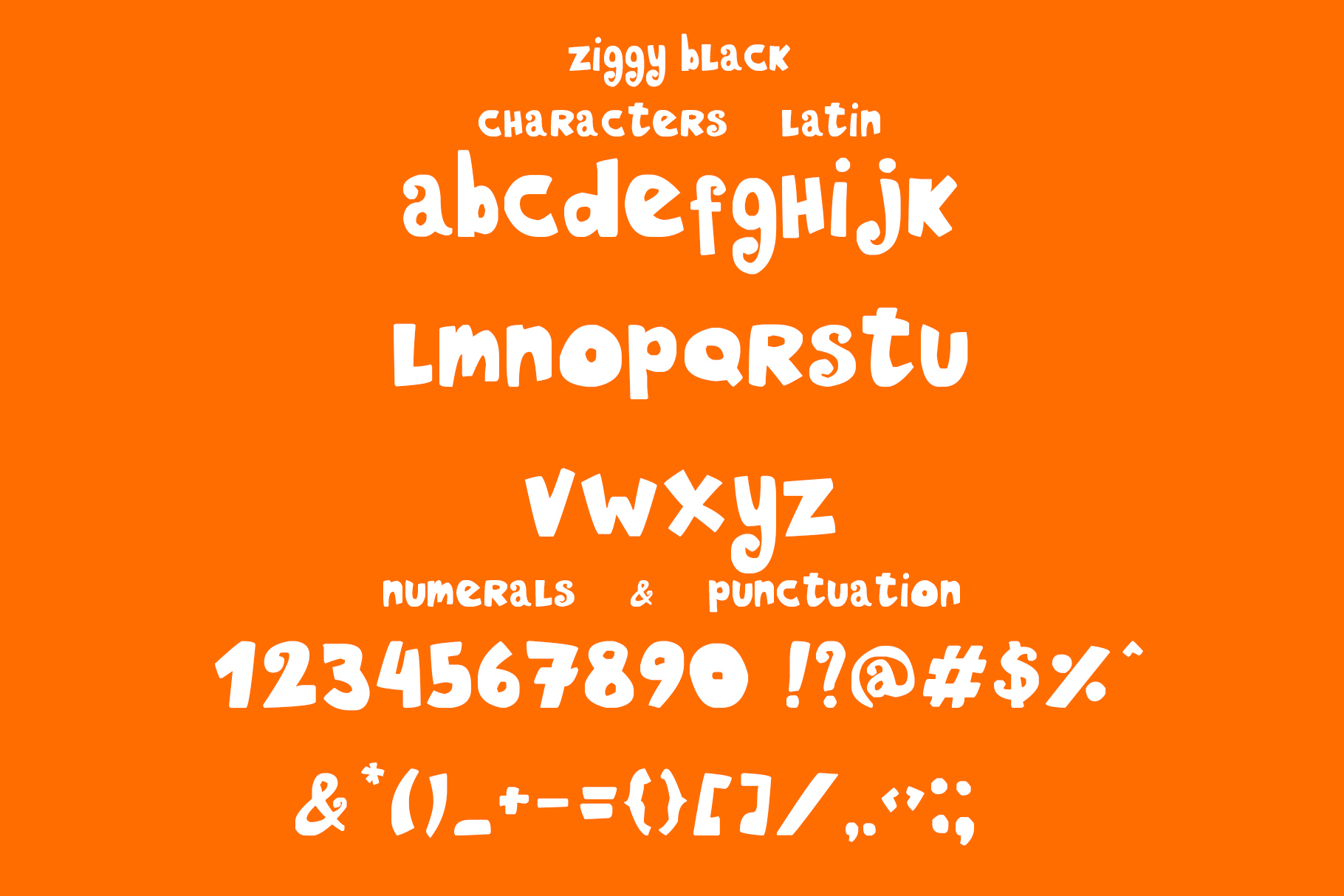 Ziggy color font example image 6