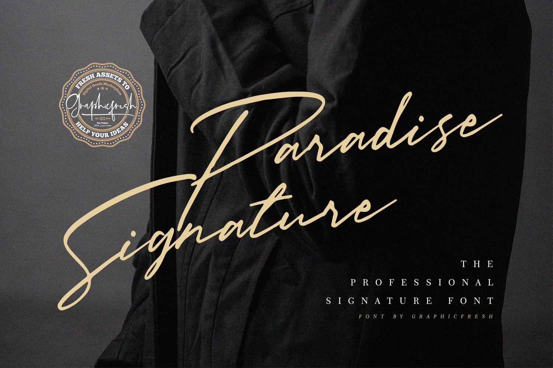Paradise Signature Font example image 1