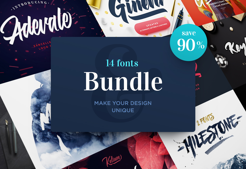 Fonts Bundle. 90% OFF example image 1