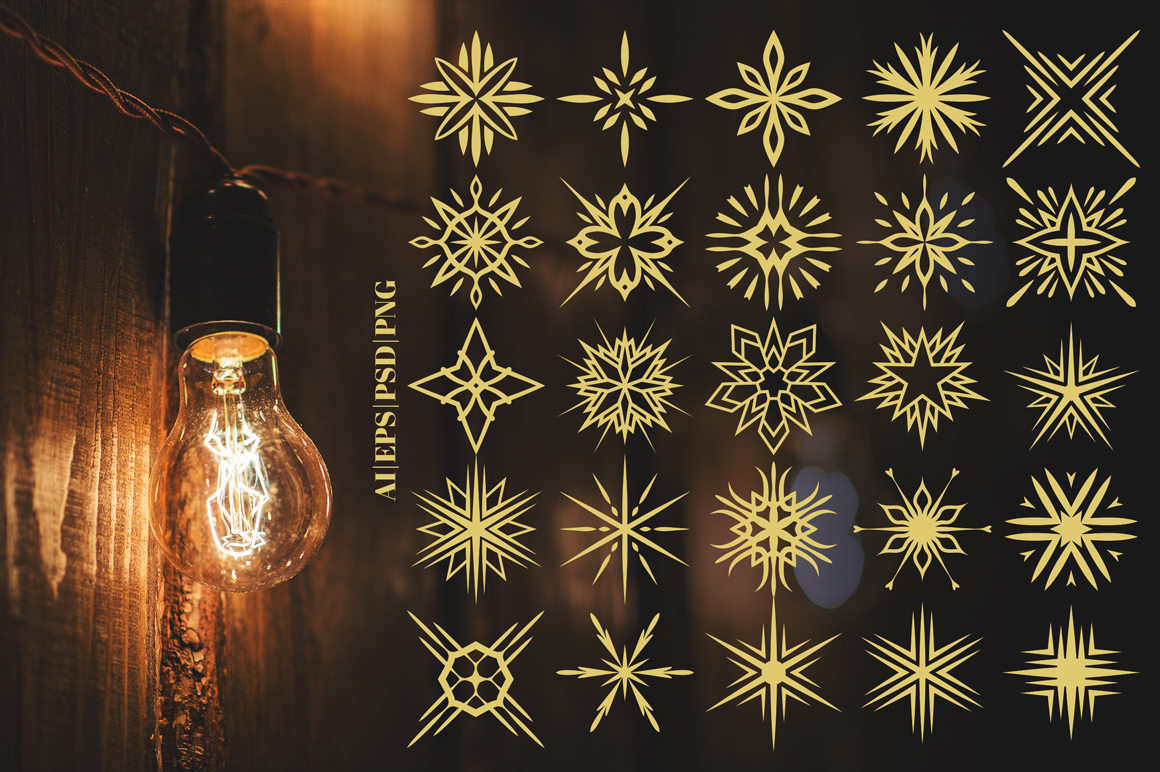 100 Star Vector Ornaments example image 6