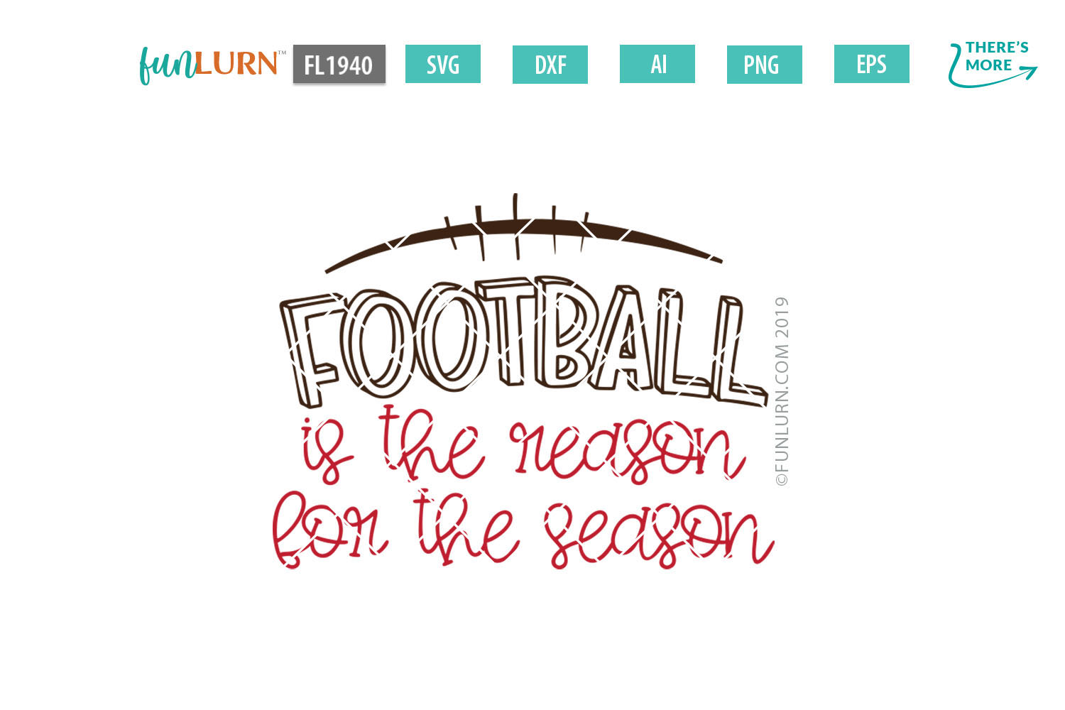 Football is the Reason For the Season SVG Cut File example image 2