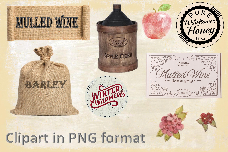 Winter Garden Backgrounds with Free Ephemera. Journaling Kit example image 6