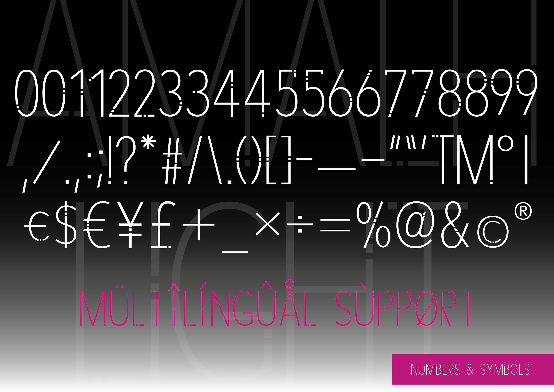 AMALFI - A Modern Font Family example image 10