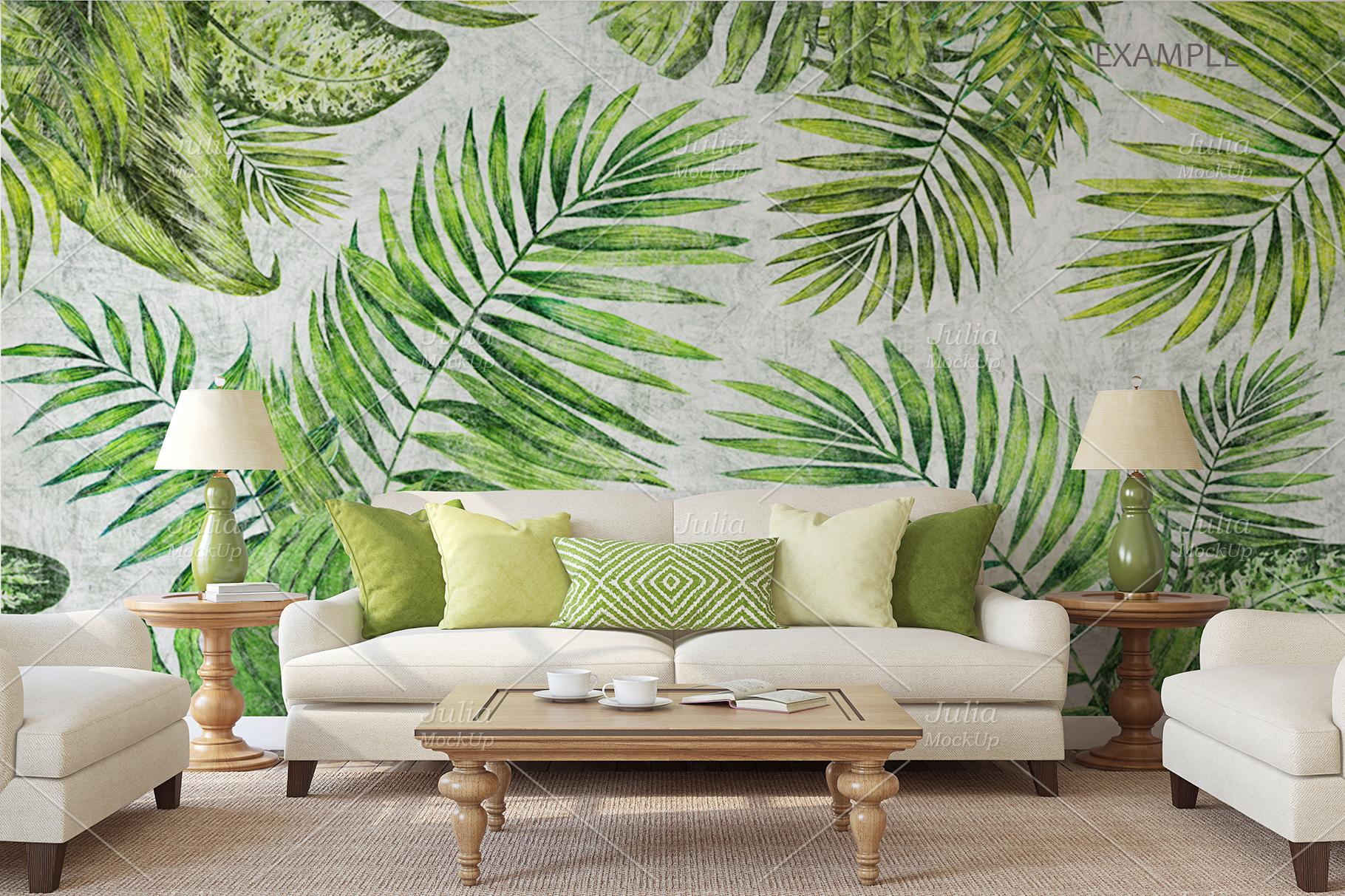 Living-room interiors. Wall&Frames Mockup. example image 5