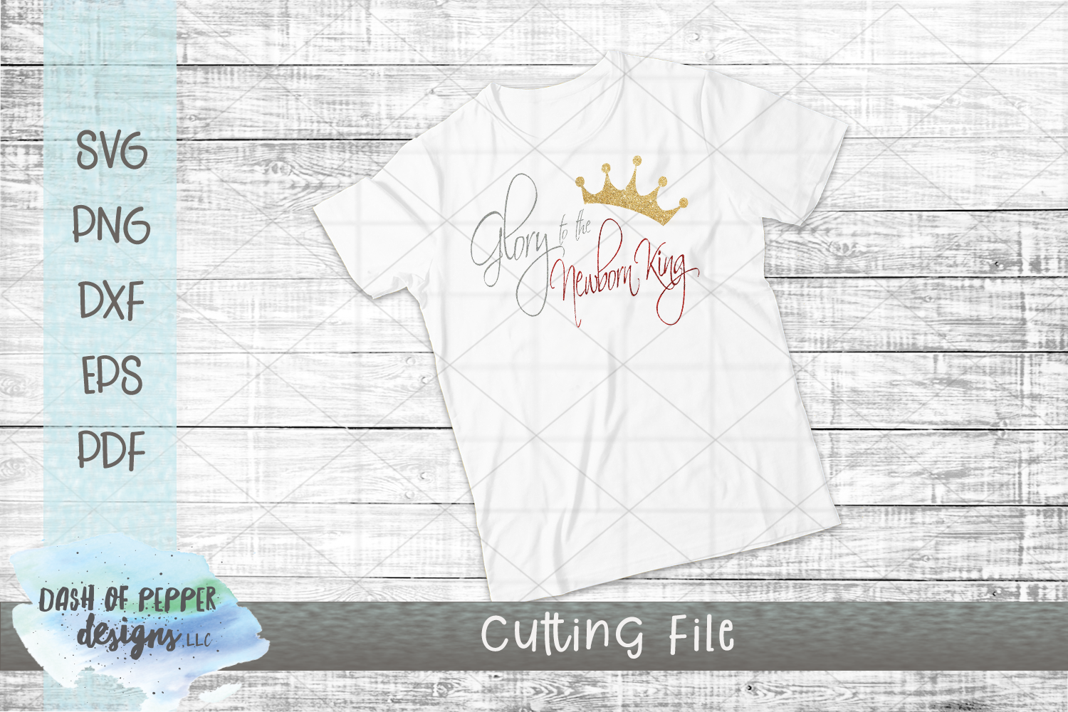 Glory to the Newborn King SVG - Christmas SVG example image 2