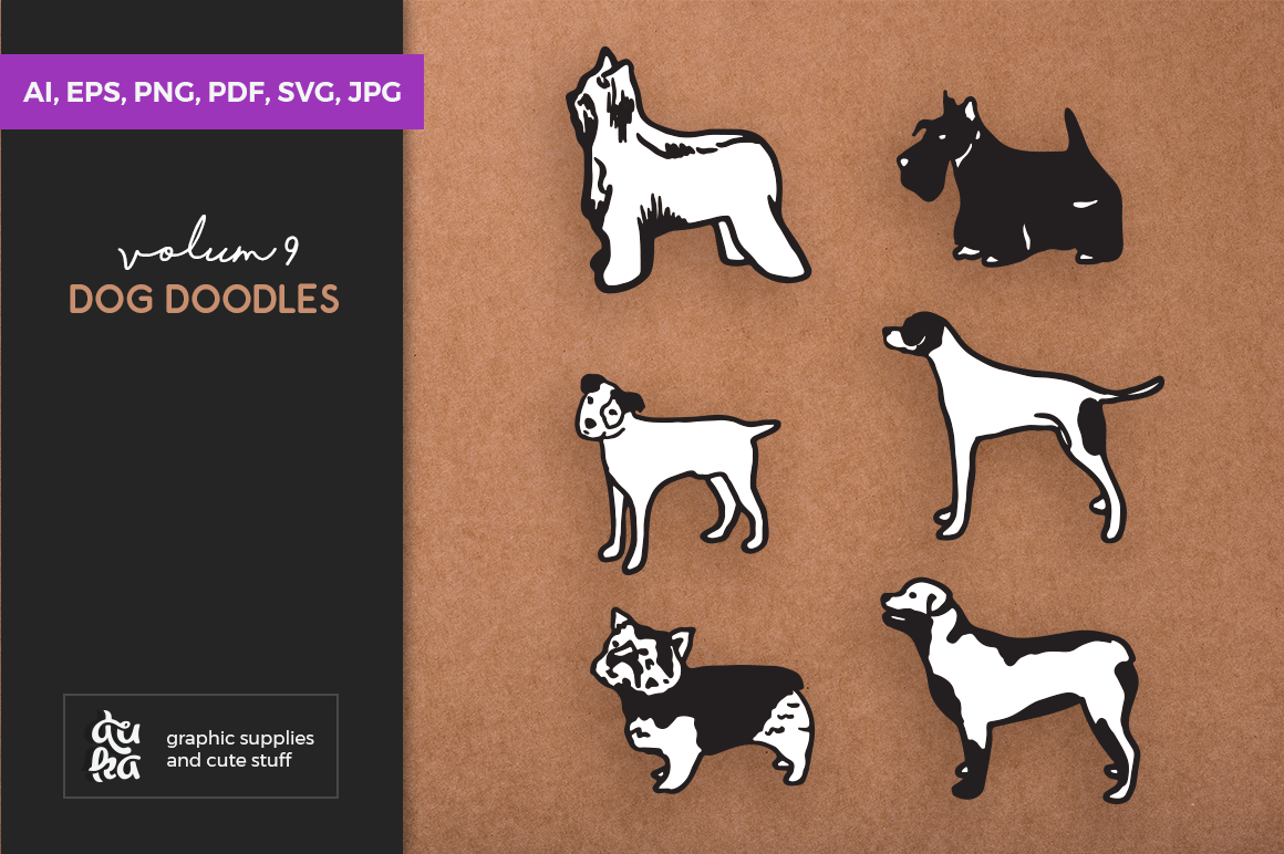 Dog Shapes SVG - Dog Doodles for Cricut example image 1