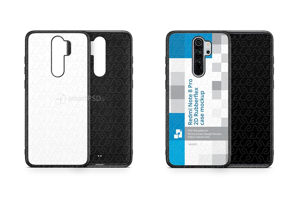 Redmi Note 8 Pro 2019 2d Rubber Flex Case Design Mockup example image 1