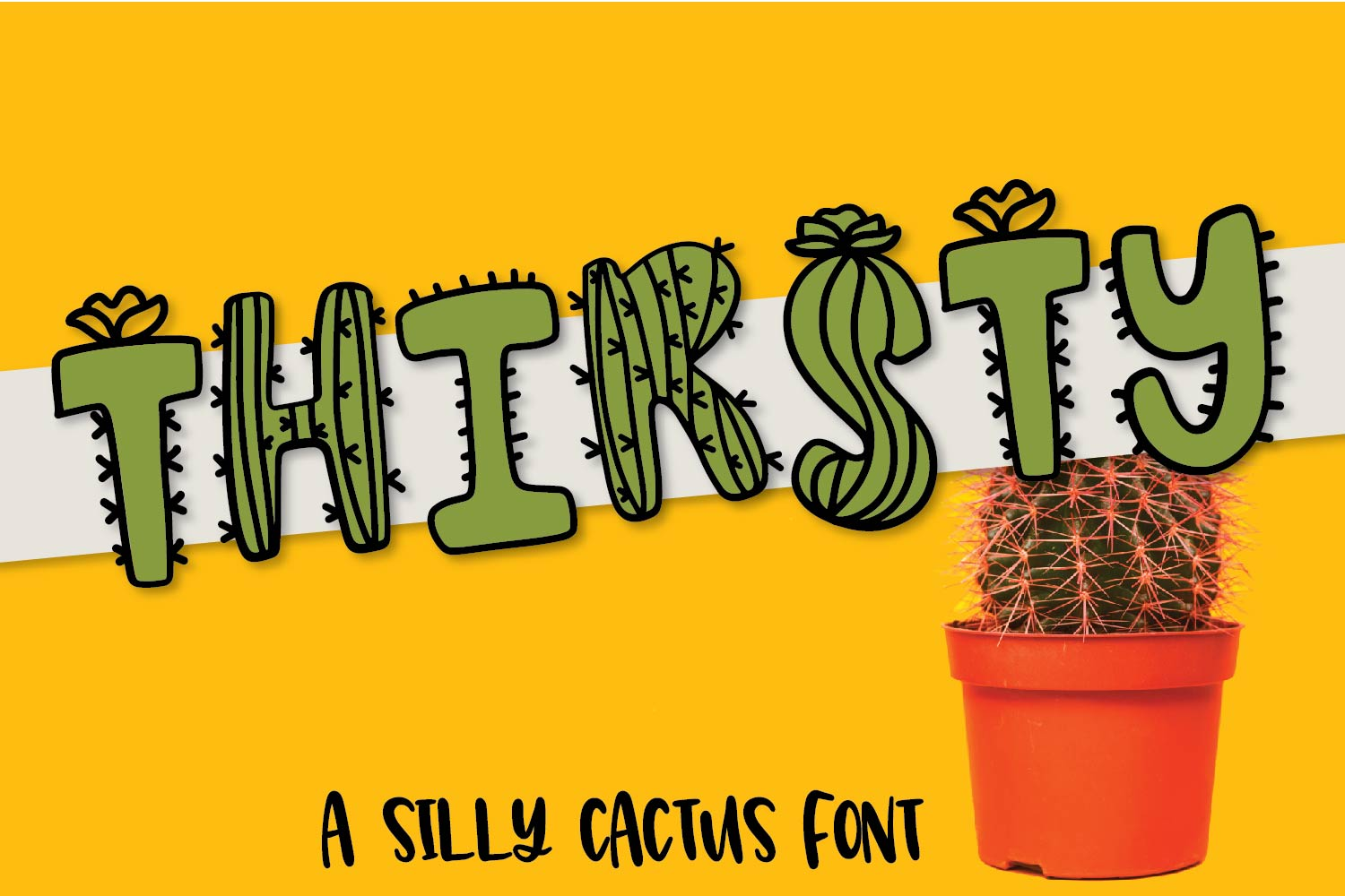 Thirsty Cactus - A Silly Cacti Font example image 1