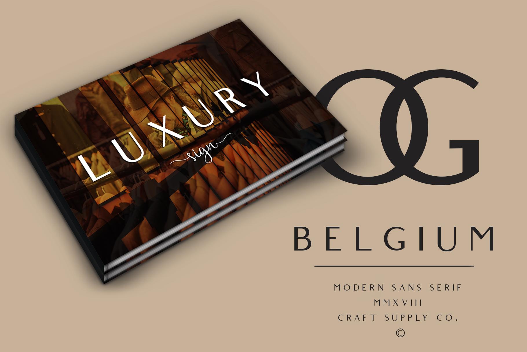 Belgium Font Family example image 9