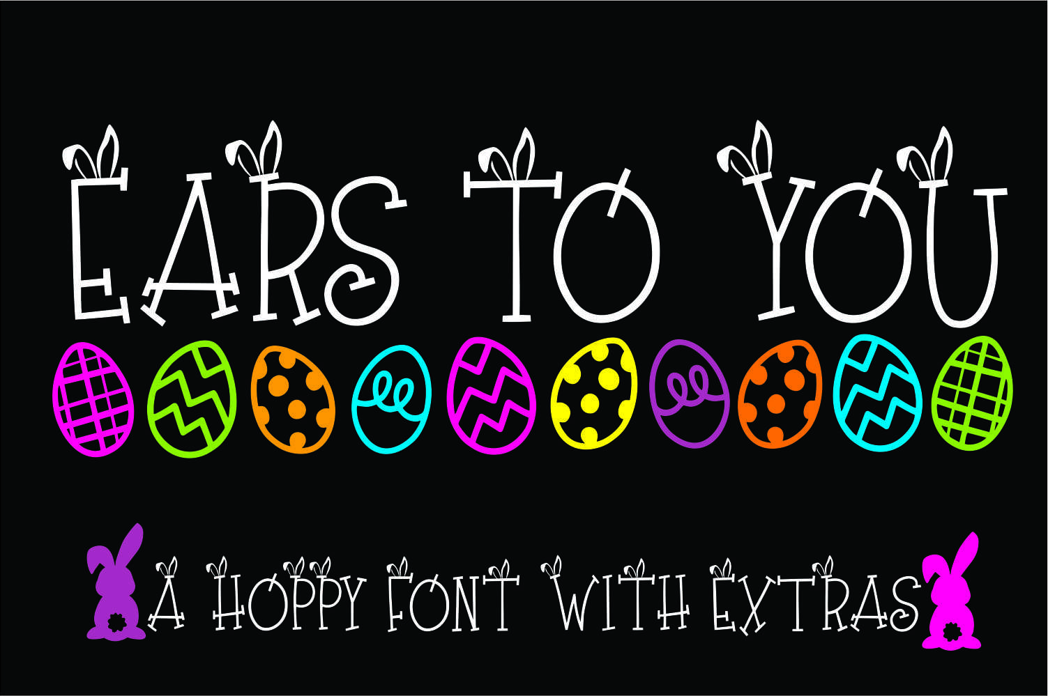 Ears to You Bunny Font example image 1