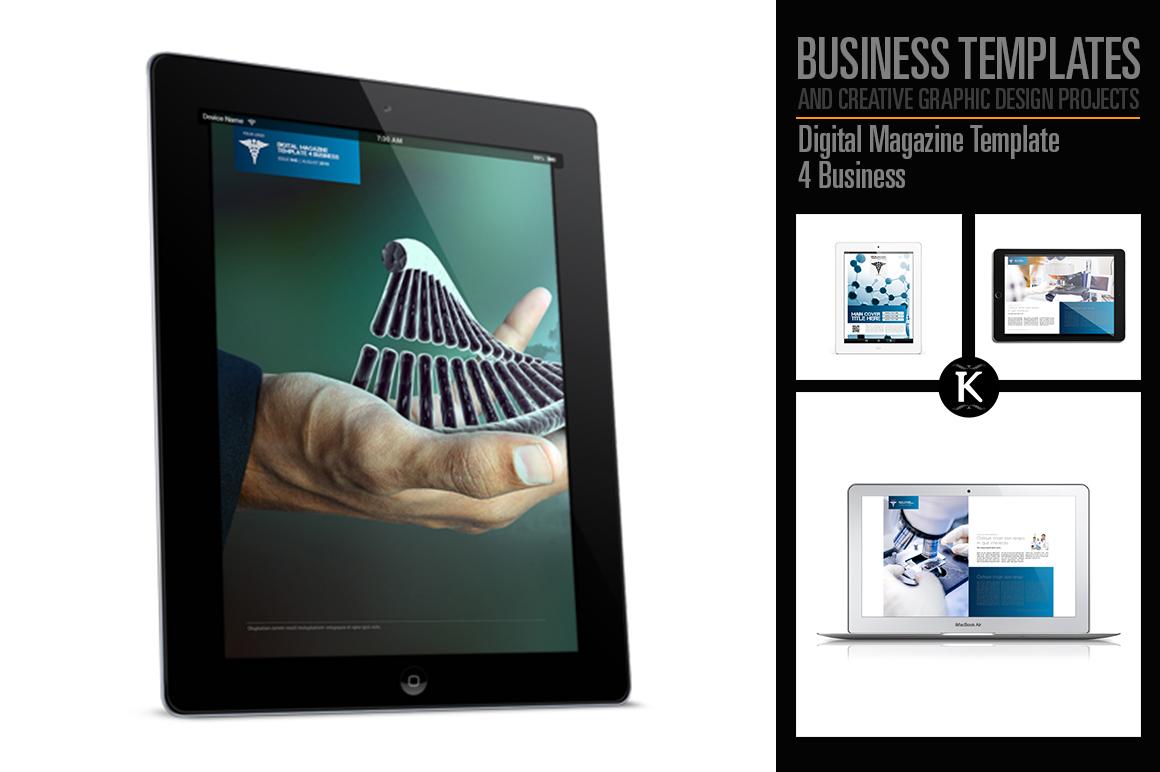 digital magazine template 4 business by design bundles. Black Bedroom Furniture Sets. Home Design Ideas