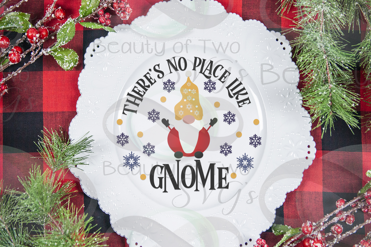 There's no place like Gnome Winter porch svg, Gnome Sign svg example image 3