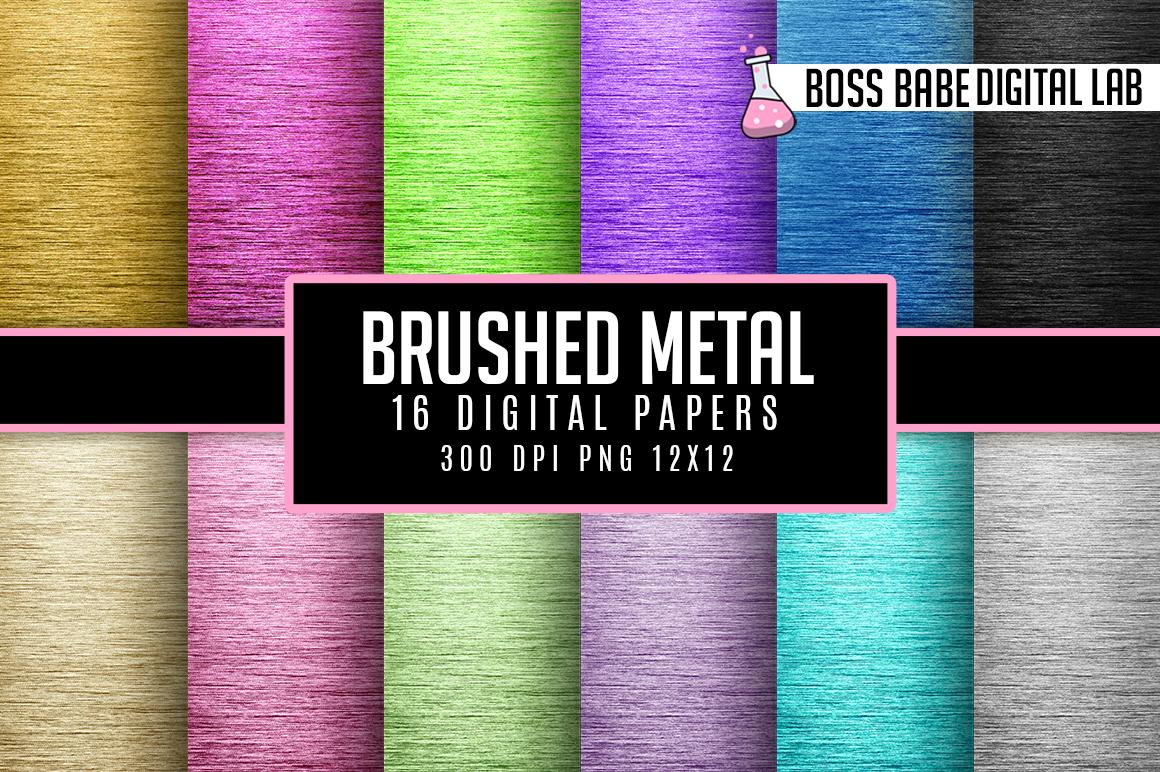 16 Brushed Circular Metal Digital Papers example image 1