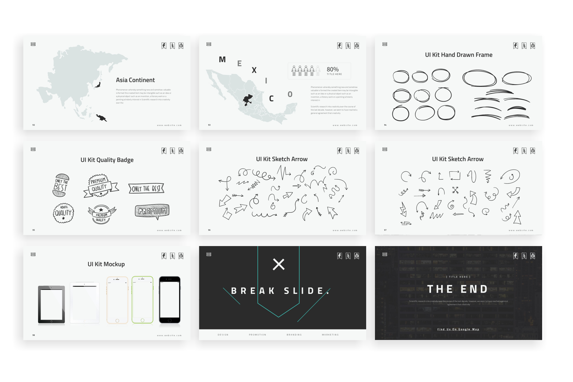 Doodles PowerPoint Template example image 12