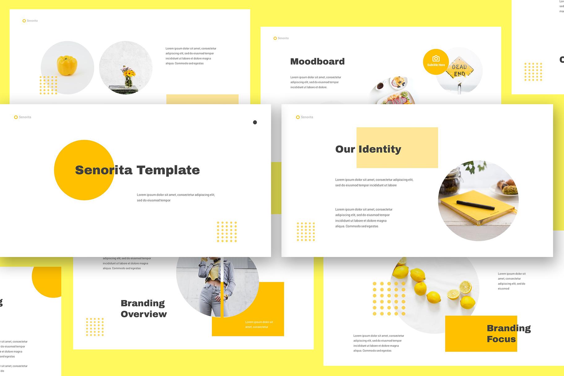 Senorita Brand Guideline Keynote example image 1