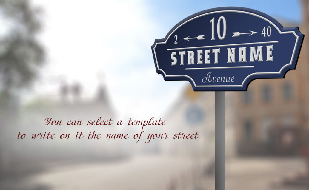 9 Vector retro street signs. example image 4
