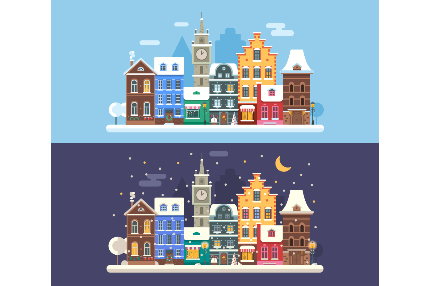 Christmas City Winter Landscape example image 1