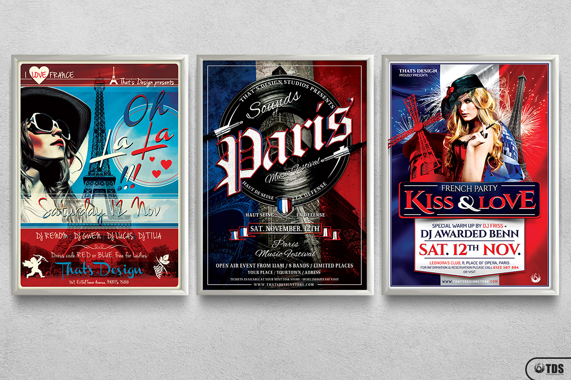 French Party Flyer Bundle example image 11