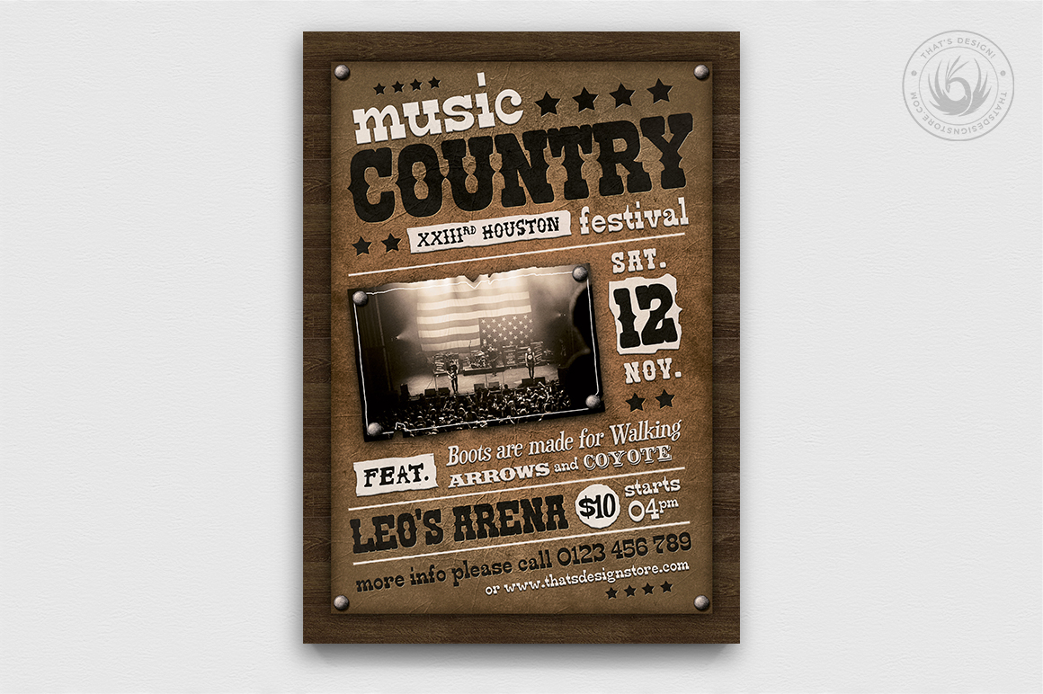 Country Music Flyer Bundle V2 example image 3