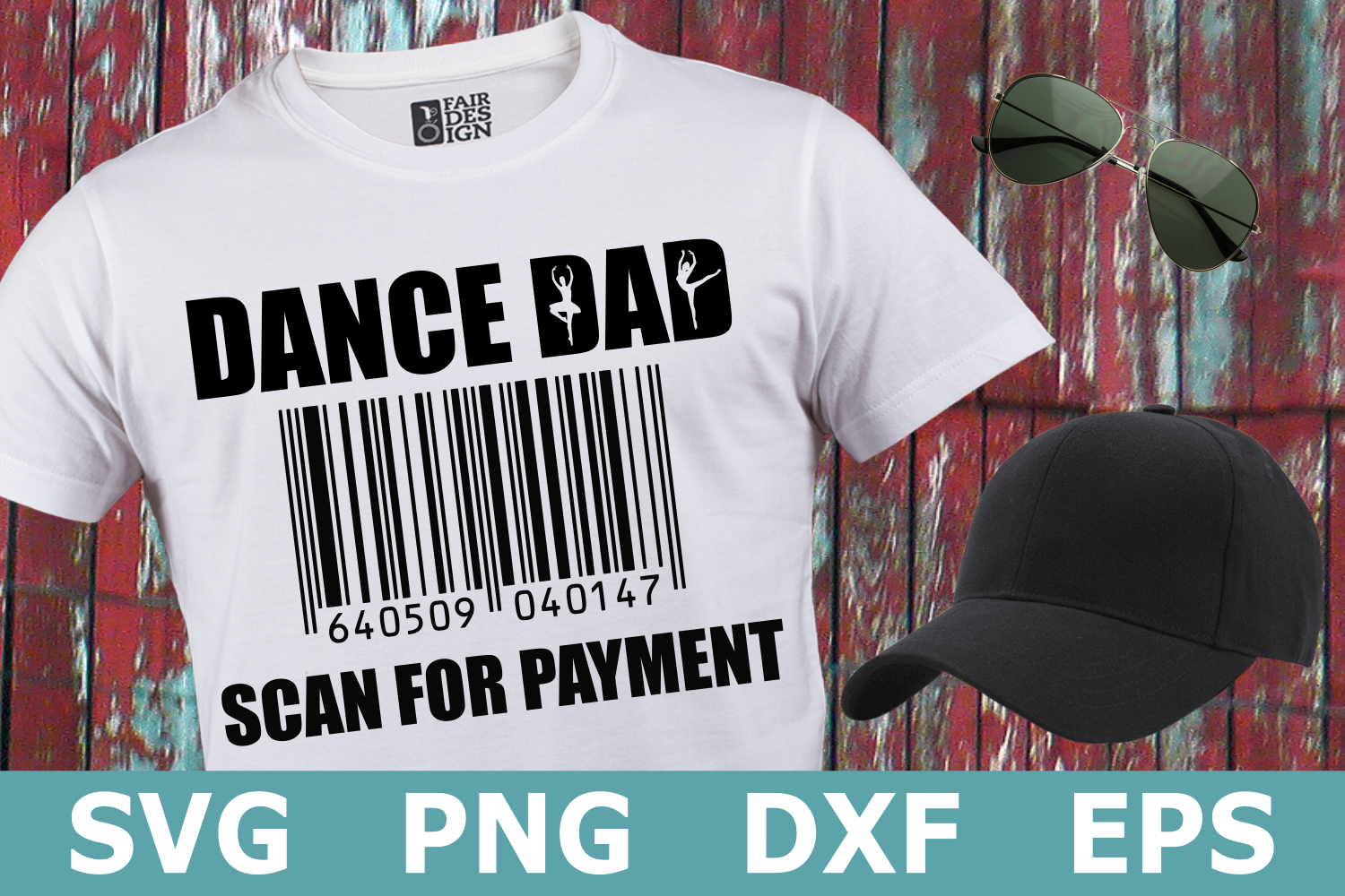 Dance Dad Scan for Payment - A Dance SVG Cut File example image 1