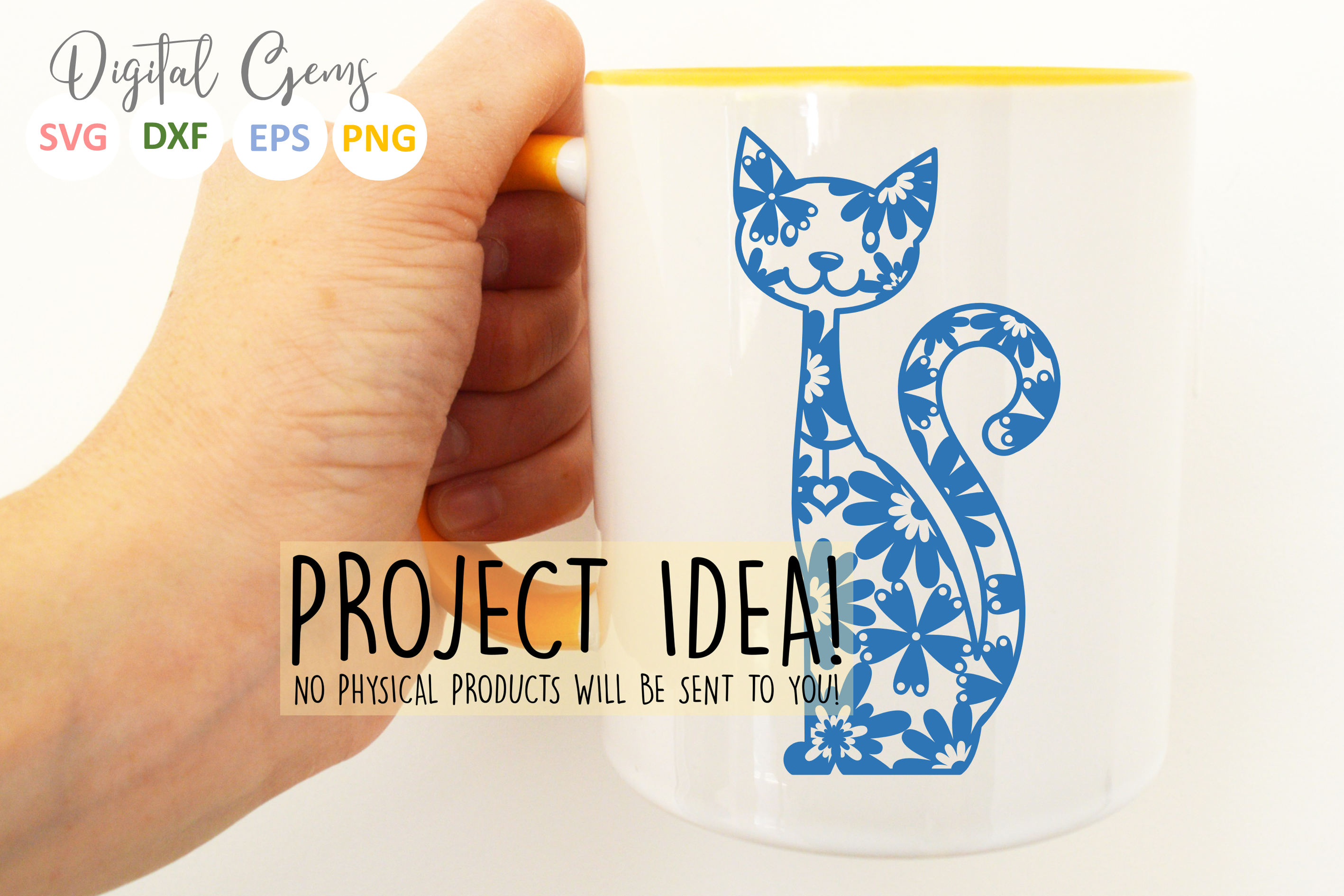 Cat paper cut SVG / DXF / EPS files example image 6