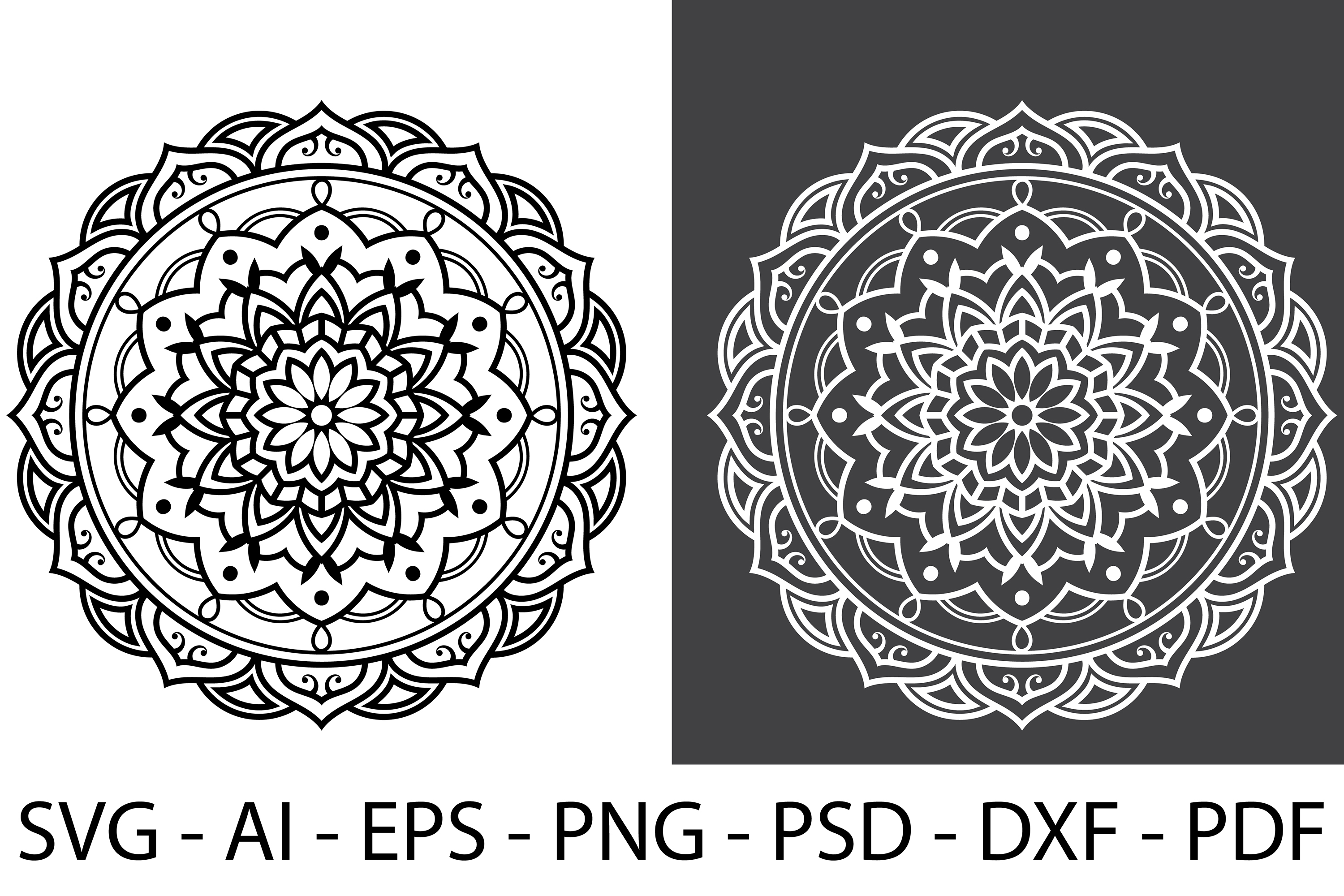 Mandala svg Circle file | Mandala art