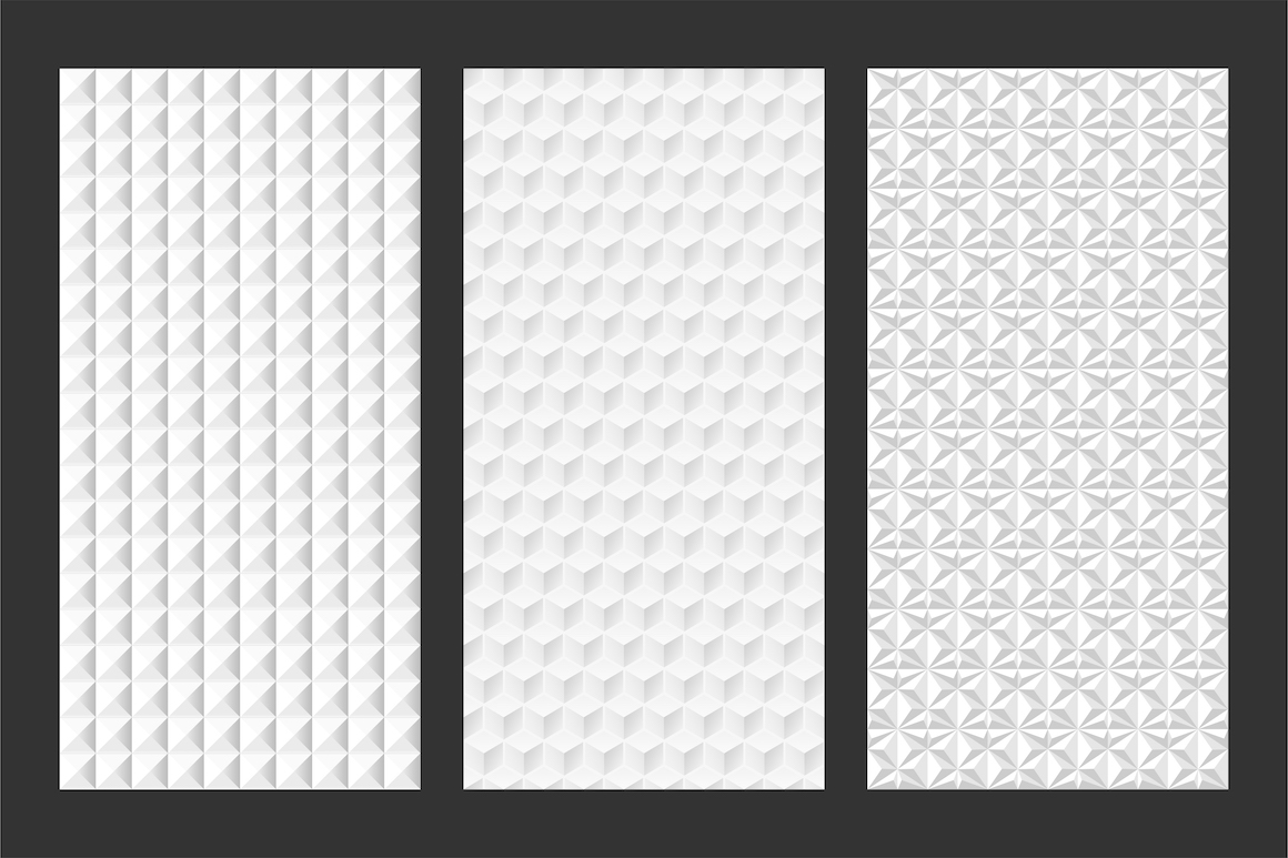 White and grey seamless 3d textures example image 6