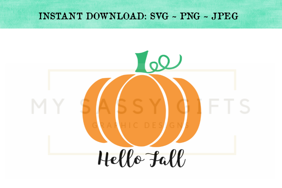 Hello Fall Pumpkin Farm SVG Design example image 1