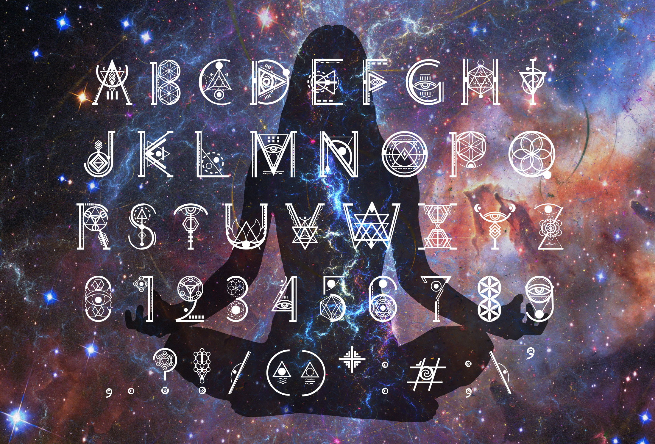 Ancient-Geometry font example image 5