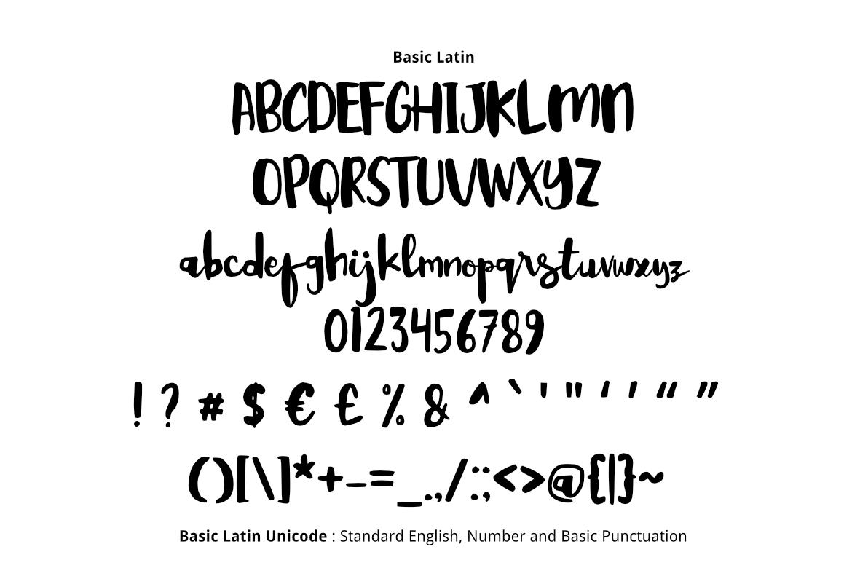 Kabut Senja Brush Font example image 2