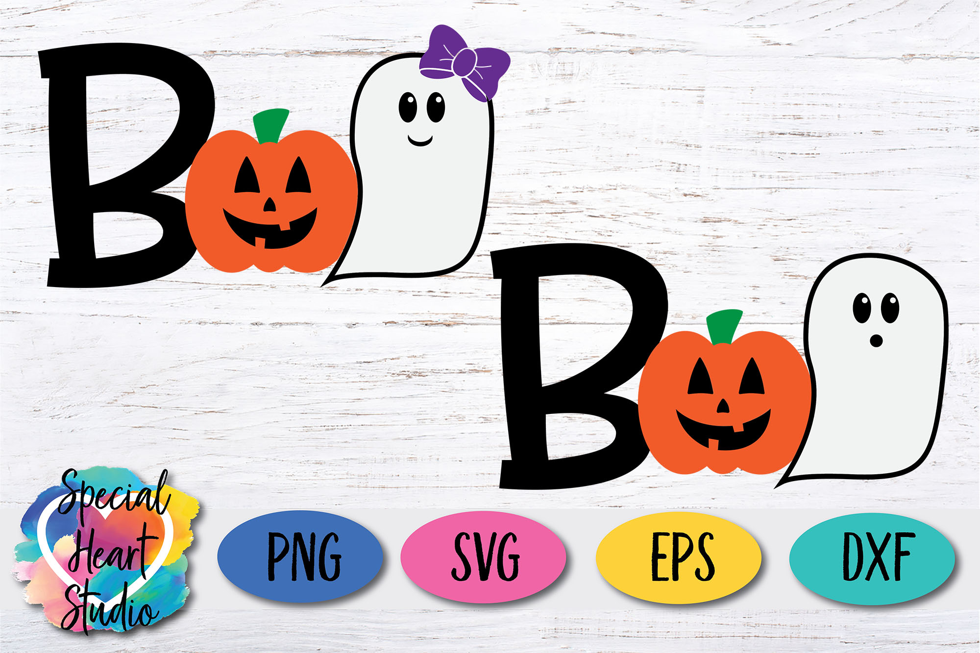 Boo - A Cute Kids Halloween SVG Cut File example image 2