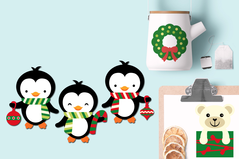 Christmas Polar Bears and Penguins example image 2